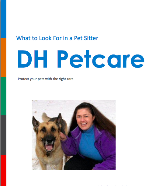 What to look for in a pet sitter book cover